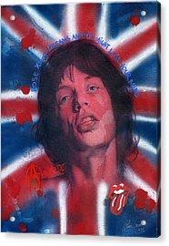 Mick Jagger Acrylic Print by Luis  Navarro