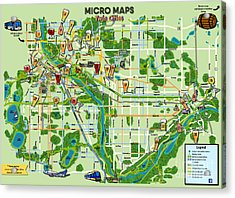 Micro Maps Twin Cities Acrylic Print