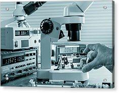 Microelectronic Device Acrylic Print by Wladimir Bulgar