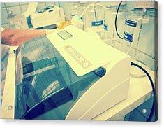 Microplate Reader Acrylic Print by Wladimir Bulgar