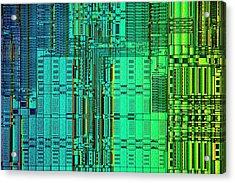 Microprocessor Instruction Decode Unit Acrylic Print