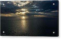 Midnight Sun Over Mount Susitna Acrylic Print