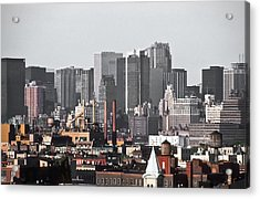 Midtown Manhattan 1978 Acrylic Print by Kellice Swaggerty