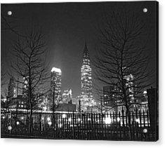 Midtown Manhattan At Night Acrylic Print