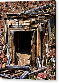 Midwest Mine Shaft Acrylic Print by Lana Trussell