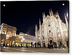 Milan Cathedral Vittorio Emanuele II Gallery Italy Acrylic Print