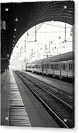 Milan Central Station Acrylic Print by Valentino Visentini