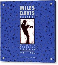 Miles Davis All Stars -  Chronicle Acrylic Print