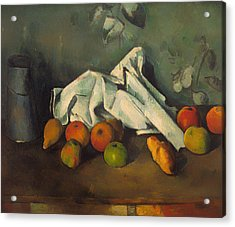Milk Can And Apples Acrylic Print