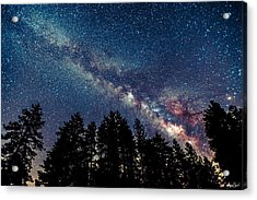 Milky Way Acrylic Print by Abe Blair