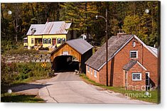Mill Covered Bridge. Acrylic Print