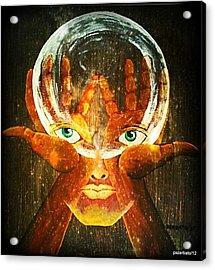 Mind Acrylic Print by Paulo Zerbato