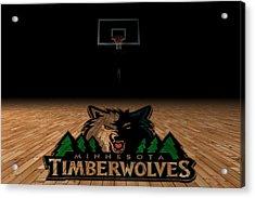 Minnesota Timberwolves Acrylic Print by Joe Hamilton