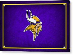 Minnesota Vikings Acrylic Print by Joe Hamilton