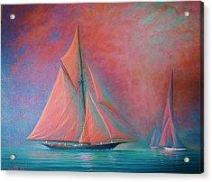 Misty Bay Acrylic Print