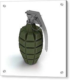 Mk 2 Grenade Acrylic Print by Mikkel Juul Jensen