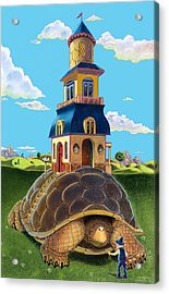 Mobile Home Acrylic Print by J L Meadows