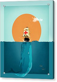 Moby  Acrylic Print by Mark Ashkenazi