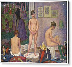 Models Acrylic Print by Georges Seurat