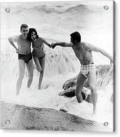 Models Wearing Swimwear Acrylic Print by Richard Waite