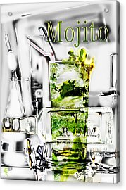 Mojito Acrylic Print by Russell Pierce