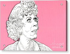 Momma On Pink Acrylic Print by Jason Tricktop Matthews