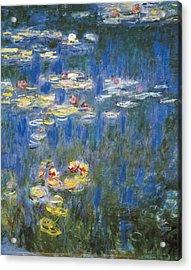 Monet, Claude 1840-1926. Waterlilies Acrylic Print by Everett