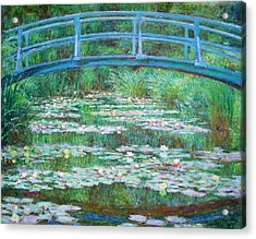 Acrylic Print featuring the photograph Monet's The Japanese Footbridge by Cora Wandel