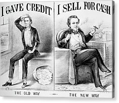 Money Lending, 1870 Acrylic Print