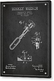 Monkey Wrench Patent Drawing From 1883 Acrylic Print by Aged Pixel