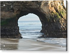 Monolith Natural Bridges State Beach  Acrylic Print