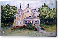 Acrylic Print featuring the painting Monroe Inn Auburn Maine Sold by Richard Benson