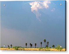 Monsoon Clouds Over Landscape Acrylic Print by K Jayaram