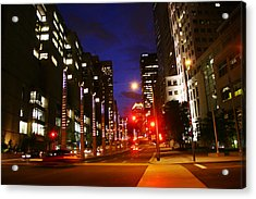 Montreal By Night Acrylic Print by Isabel Poulin