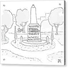 Monument Of The Eternal Conspiracy Theory Acrylic Print