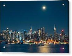 Moon Rise Manhattan Acrylic Print