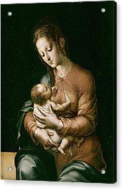 Morales, Lu�s De 1515-1586. The Virgin Acrylic Print by Everett