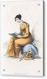 Morning Dress, Fashion Plate Acrylic Print by English School