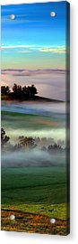 Morning Fog Over Two Rock Valley Diptych Acrylic Print by Wernher Krutein