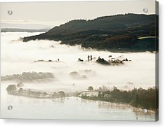 Morning Mist Over Lake Windermere Acrylic Print