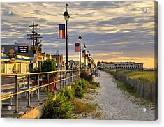 Morning On The Boardwalk Acrylic Print
