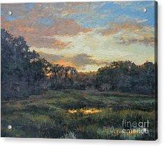 Morning On The Marsh - Wellfleet Acrylic Print by Gregory Arnett