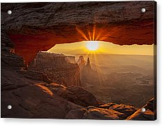 Morning Rays Acrylic Print by Andrew Soundarajan
