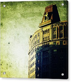 Morningside Heights Green Acrylic Print by Natasha Marco