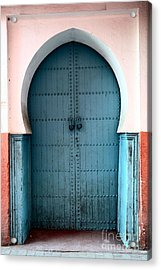 Moroccan Door Acrylic Print by Sophie Vigneault