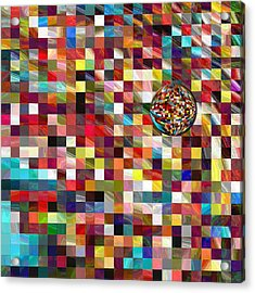 #1 Mosaic Series Acrylic Print by George Curington