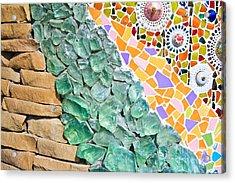 Mosaic Texture  Acrylic Print by Niphon Chanthana