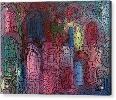 Mosaic Town Acrylic Print