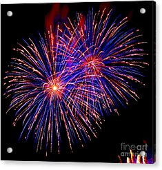 Most Spectacular Fireworks Selection - Worldwide Championship - Montreal Acrylic Print by Emma Lambert