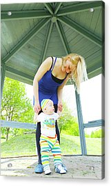 Mother And Baby Boy Acrylic Print